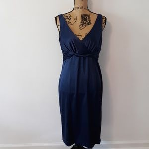 Jones Wear Blue V-Neck Formal Party Dress 10
